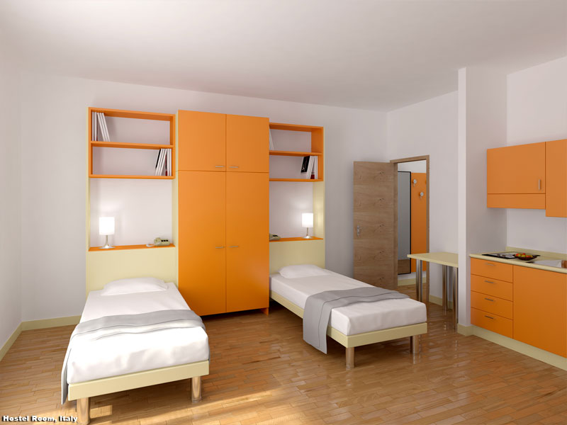 3D Rendition Students Hostel Room Interior Visualization « - 3D ...